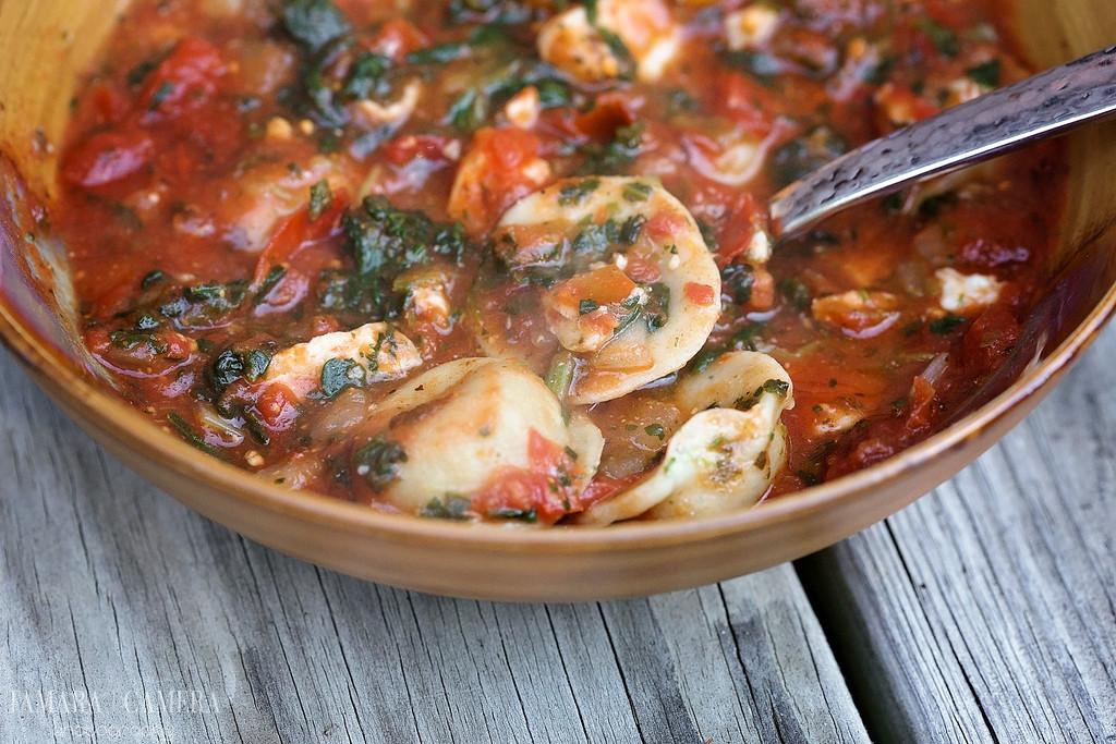 Chicken Spinach Ravioli Soup