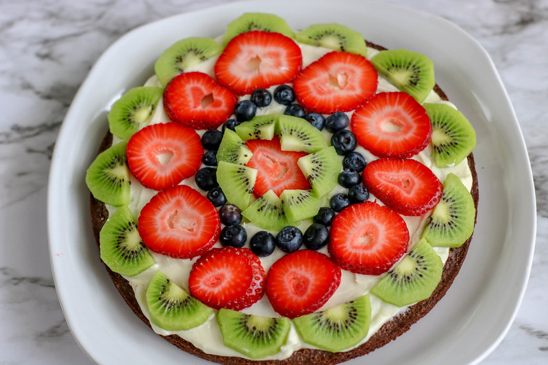 fruit brownie pizzas for a summer recipe