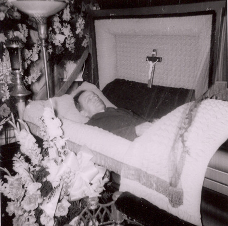 Great-grandfather's funeral, in the parlor, 1952