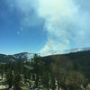 Driving through Yosemite on Thursday afternoon - the Yosemite Creek lightning ignited fire was burning.