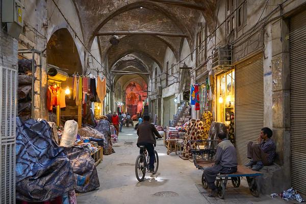 Quiet moment in the bazaar