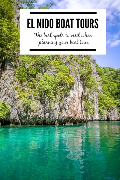 The ultimate activities when visiting El Nido, Philippines is to take island hopping tours to see the lagoons and coves in the area. We've compiled a list of our favorite spots to help you choose the best El Nido boat tour for you. | www.eatworktravel.com - The luxury, adventure couple!