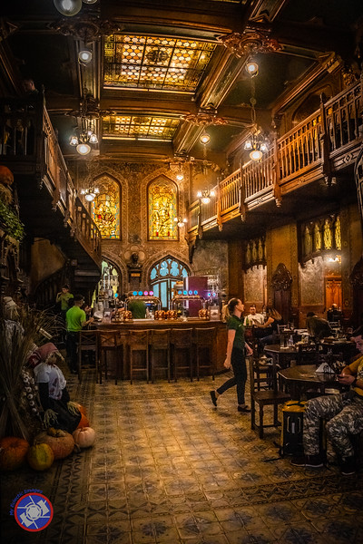 The Interior of Caru' Cu Bere Restaurant in Existence for More than 130 Years (©simon@myeclecticimages.com)