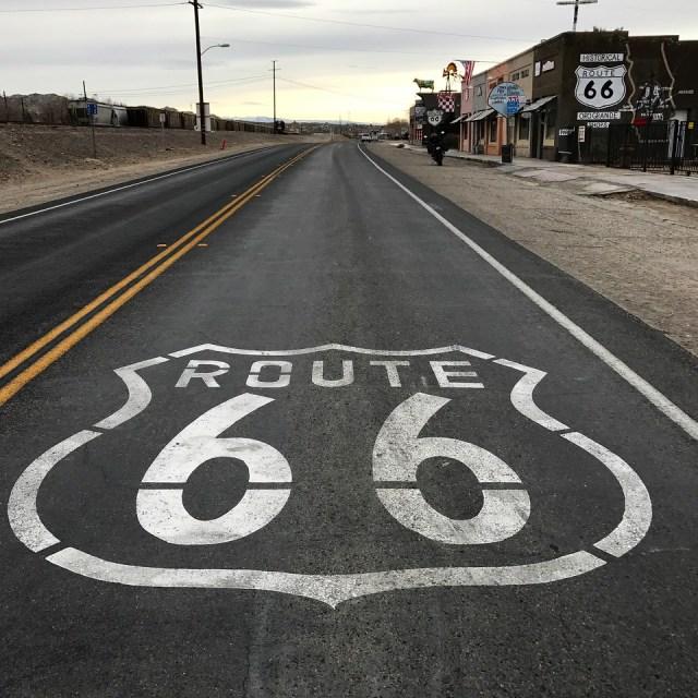Route 66 Sign in Oro Grande California