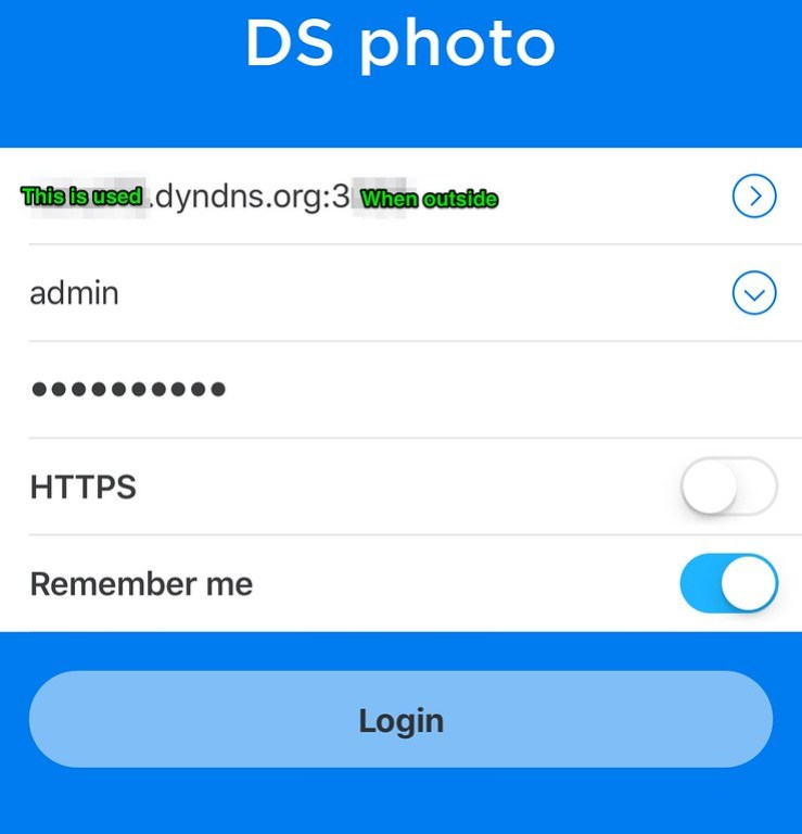 Using Synology QuickConnect External DYNDNS IP