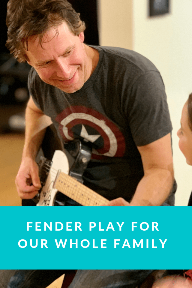 Fender Play is a guided online learning program that teaches new guitar players to get playing in minutes. It's perfect for our whole family #ad #FenderPlay