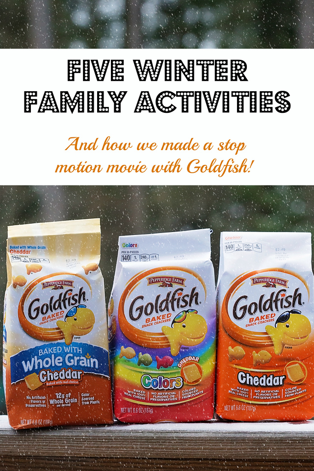 Here are 5 winter activities to do indoors as a family, including how to make a stop-motion movie! And, here's a $5,000 #giveaway! #goldfishmoments #ad #win