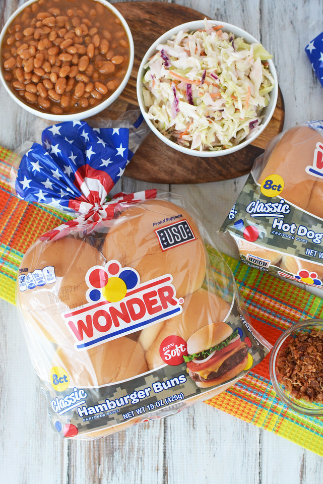 These burgers are hot dogs are DIVINE! You get the sweet bean flavor and the crunch of the coleslaw. And #bacon of course #ad #SpreadtheWonder #WonderBread