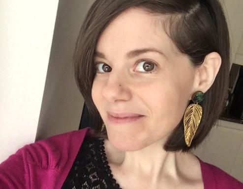 hypoallergenic leaf earrings