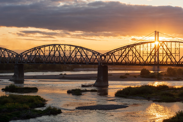 Bridges in sunset
