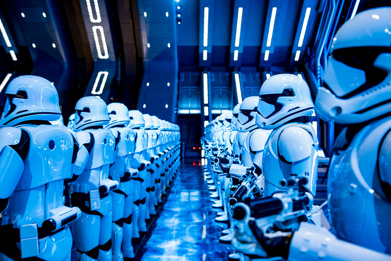Stormtroopers in Star Wars: Rise of the Resistance