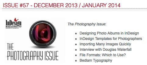 InDesign Magazine, Issue 57: The Photography Issue