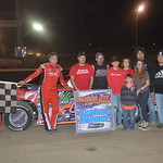 Aaron Heck held off Chris Dick to earn his fourth Pro Late Model win
