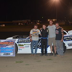 Taylor Scheffler led flag to flag in taking his first ever win in the Late Model division
