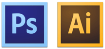 Photoshop CS6 and Illustrator CS6 icons