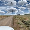 Back on the road in the antelope refuge, waiting for a herd of antelope to cross the road.