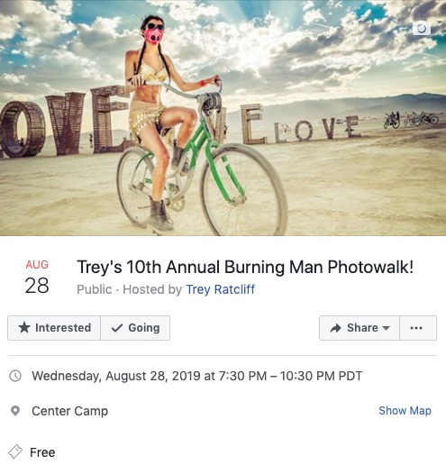 Burning Man Photowalk Info
