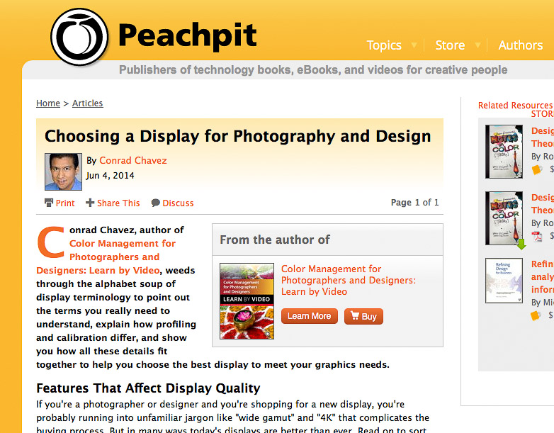 Choosing a Display for Photography and Design on Peachpit.com