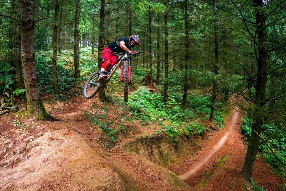 Kirt Voreis rides at Garlbraith Mountain