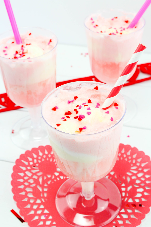 These Valentine Floats will totally make your Valentine's Day. Make them to share, or enjoy them yourself, but know they will delight your party guests, or your romantic date.