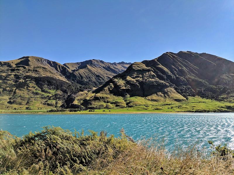 8 Day New Zealand Road Trip - Lake Wakatipu's blue water