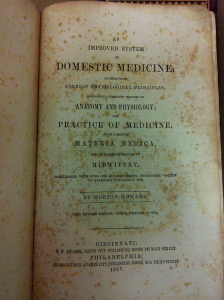 Horton Howard's Domestic Medicine, at Wright State Archives