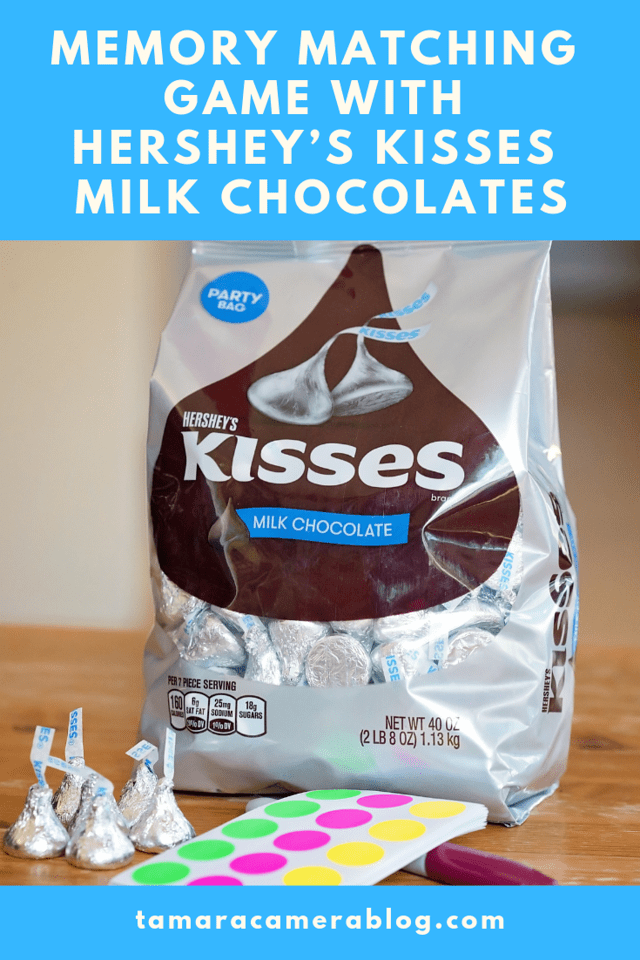 My Memory Matching Game With HERSHEY'S KISSES Milk Chocolates is yummy learning fun for little ones! You can switch up the age levels and have family fun #ad