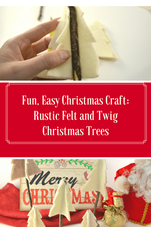 This fun and easy #Christmas #craft will keep delight your little ones, and then you can use the Rustic Felt and Twig Christmas Trees for decorations too!