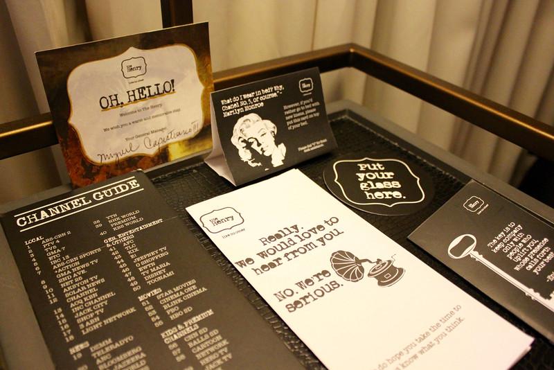 nightstand at the Henry Hotel Manila