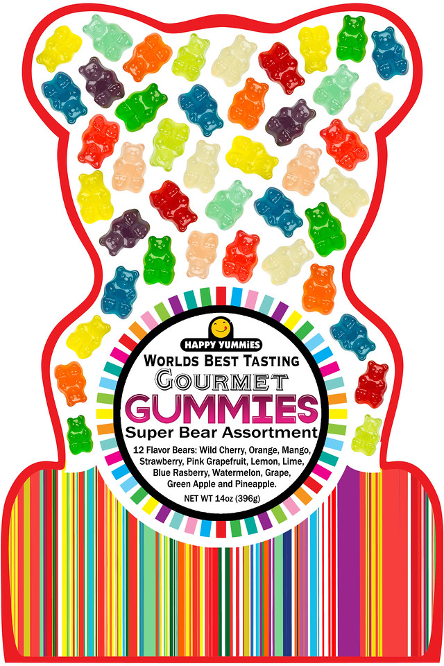 """Happy Yummies """"World's Best Tasting Gourmet Gummies"""" come in an exclusive bear package! What a fun gift! http://bit.ly/2jOzJER #ad #rwm #happyyummies"""