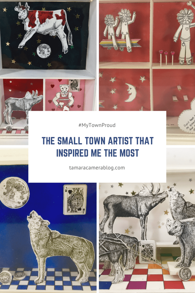What makes you #MyTownProud? Before I moved to New England and found my small town, I got inspiration from where I'm from, and how it has helped my art. #ad