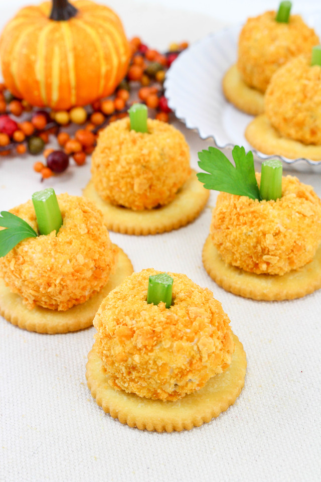 This Pumpkin Cheese Ball Recipe will be the hit of any Halloween, Fall and Thanksgiving party. It just requires a few ingredients and will be enjoyed by all