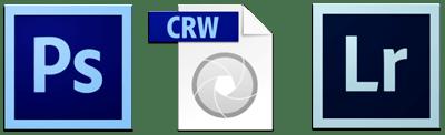 Photoshop CS6, Camera Raw 7, and Lightroom 4 icons