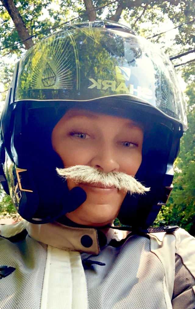 Blog Post: 5 fun facts about motorcycles - Fuzzygalore Snapchat Selfie