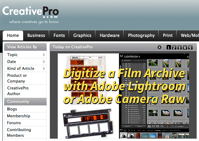 How to Digitize a Film Archive with Adobe Lightroom or Camera Raw on CreativePro.com
