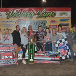Bobby Pierce and his team enjoy their $10,000 to win, MARS Late Model series win