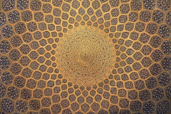 Inside of the Sheikh Lotfollah Mosque dome