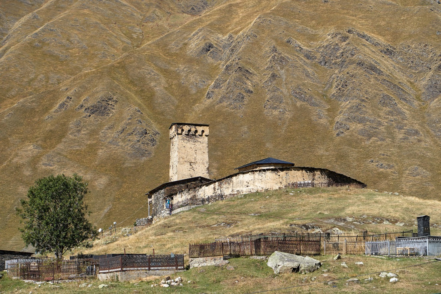 Graveyard in Ushguli