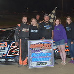 Allen Weisser tied for the DIRTCar UMP national points in the Modified class picked up his second win
