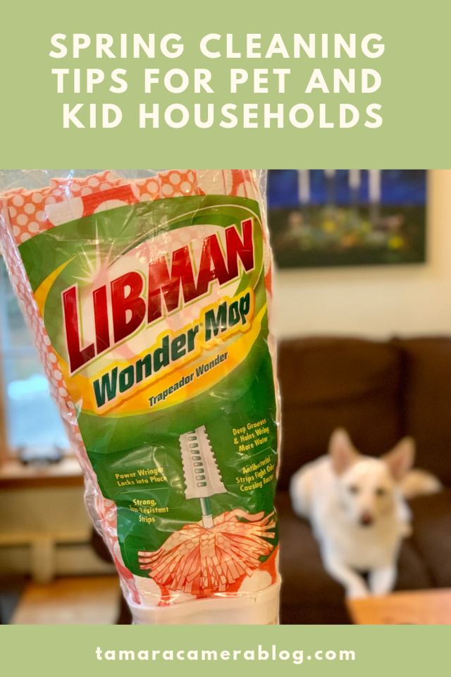 Here's our best spring cleaning tips for pet and kid parents! And yes, you can still have a clean house with both! #ad #TheLibmanCompany #EmbraceLifesMesses