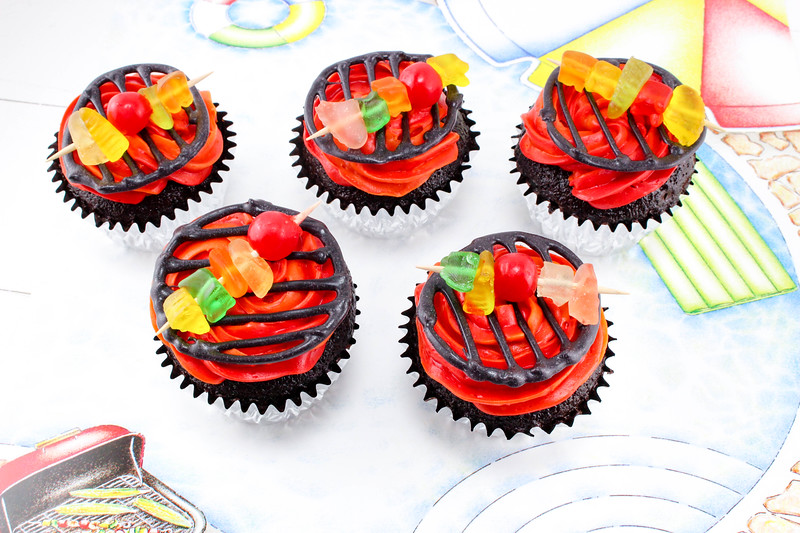 grilled cupcakes