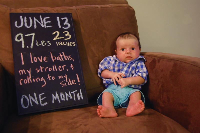 Sarah's baby, chalkboard photo