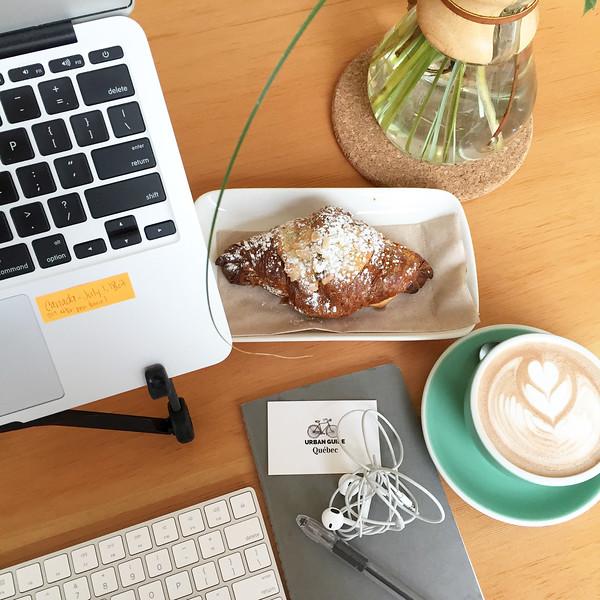 Working from Café Saint-Henri micro-torréfacteur