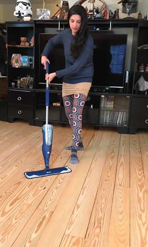 So wonderful together! Find out why the Bona Hardwood Floor Mop and the Bona Hardwood Floor Cleaning solution are the perfect match together! And 5 ways to care for hardwood floors. #ad #BonaHardwoodFloorMop #WonderfulTogether