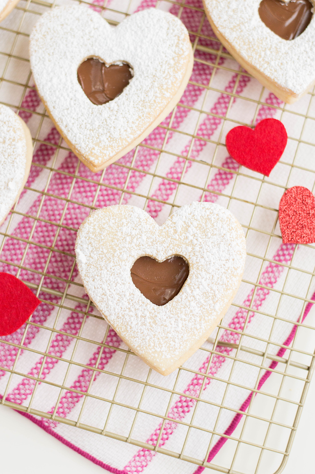 Make these Nutella-Filled Sugar Cookies for Valentine's Day. Their heart shape and surprise inside will surely delight Valentines of all ages this February!