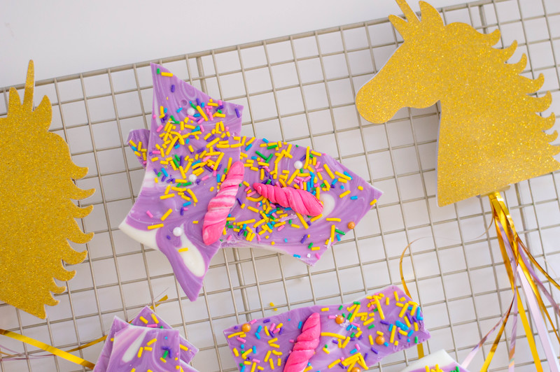 Unicorn Bark Recipe - Finished Product