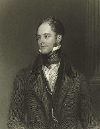 Drawn portrait of an 19th century English gentleman