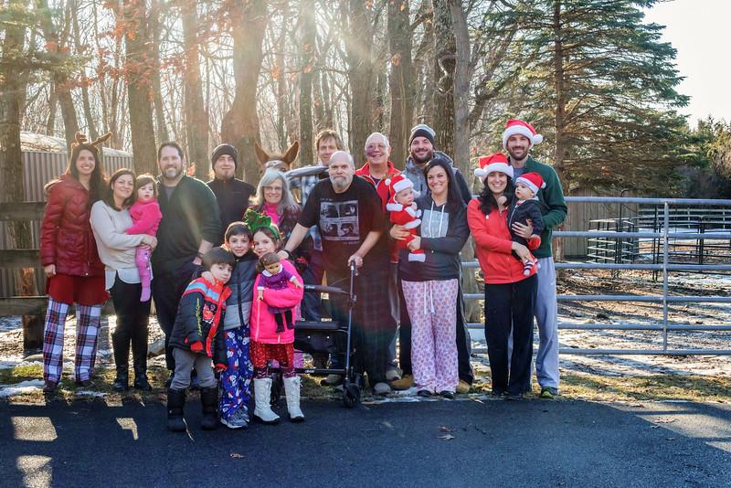 family portrait Christmas