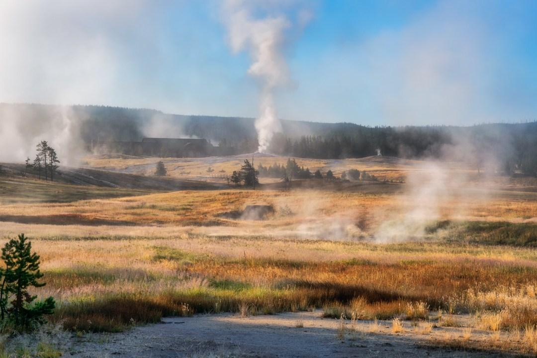 Old Faithful Landscape Photography Yellowstone National Park