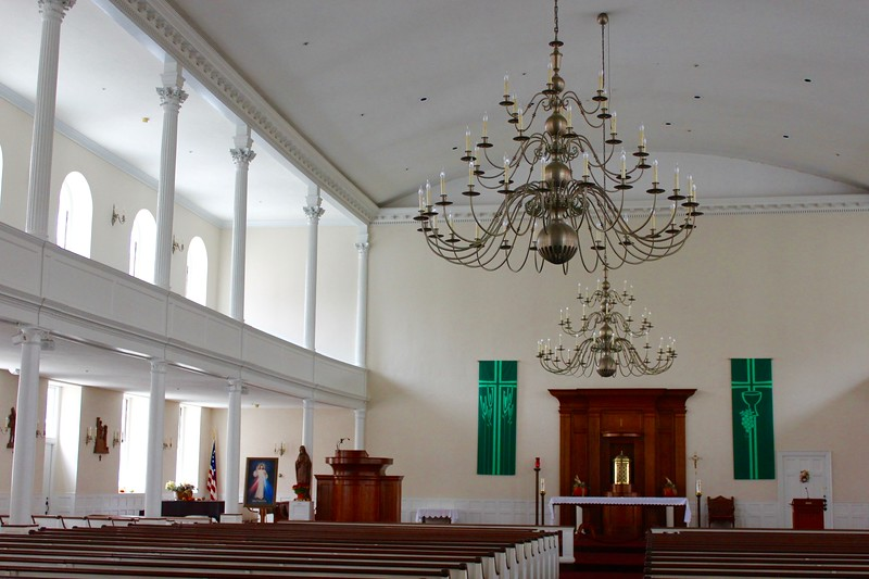 the inside of St. Stephen's Church on Hanover St. in the North End